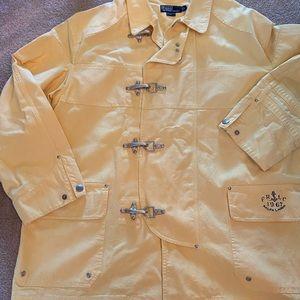 90's Yellow polo Ralph Lauren fireman jacket
